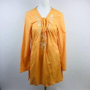 Old Navy Womens Boho Lace Up Peasant Tunic Top Siz